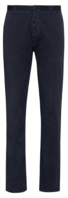 HUGO BOSS Slim-fit trousers in overdyed stretch-cotton gabardine