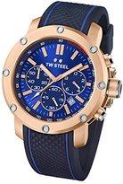 TW Steel Men's TS3 Analog Display Quartz Blue Watch