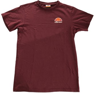 Ellesse Burgundy Cotton Top for Women