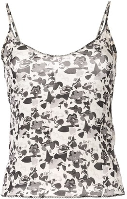 Chanel Pre Owned Floral Logo Camisole