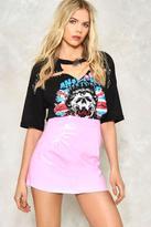 Nasty Gal Vinyl Mini Skirt