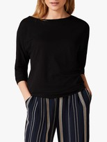 Phase Eight Belle Boat Neck Top, Black