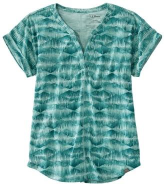 L.L. Bean Women's Short-Sleeve Streamside Tee, Print