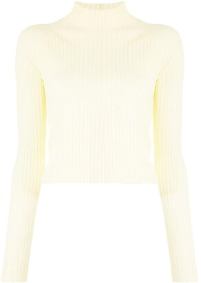 Dion Lee Open-Back Ribbed Top