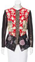 Alexander McQueen 2017 Embroidered Leather Jacket