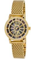 Wittnauer WN4035 Women's Charlotte Black MOP Dial Yellow Gold Tone Steel Mesh Bracelet Watch