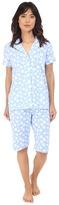 Lauren Ralph Lauren Knit Notch Collar Bermuda Pajama Set