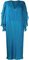Alberta Ferretti plisse shift dress
