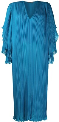 Alberta Ferretti Plisse Shift Dress