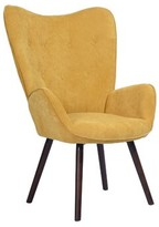 """Channel Courtright 26.2"""" Armchair Hashtag Home Fabric: Gold Yellow Velvet"""