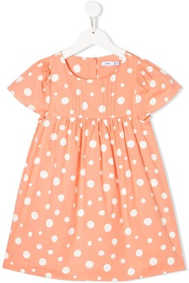 Knot Dotted Cotton Dress