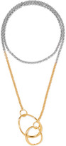 Charlotte Chesnais Symi Gold-dipped And Silver Necklace - one size