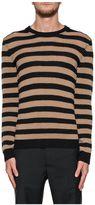 Valentino Camel/black Cashmere Sweater