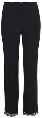 Alexander McQueen Lace Hem Trousers