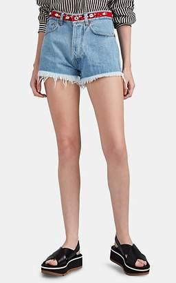 Couture Forte Dei Marmi Women's Rosa Bandana Denim Cutoff Shorts - Blue