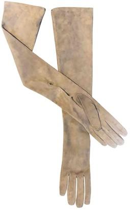 Prada Brown Suede Gloves