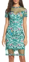 Tadashi Shoji Women's Verena Embroidered Sheath Dress