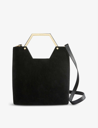 Ted Baker Layah leather and suede shopper bag