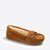 J.Crew Factory Kids' suede shearling slippers