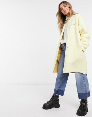 Daisy Street overcoat in pastel texture