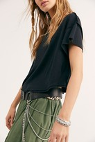 Free People Diamonte Chain Belt by Free People, Distressed Black, One Size