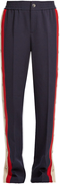 Gucci Striped-side wool and silk-blend trousers