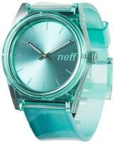 Neff NF0237-TEAL Men's Daily Ice Analog Teal Rubber Band Teal Dial Watch