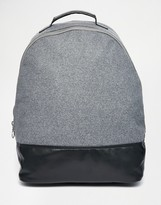 Asos Backpack With Chunky Metal Zip