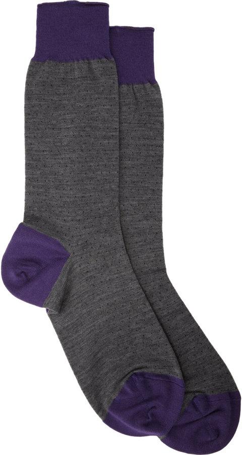 Barneys New York Mini Dots Mid-Calf Socks
