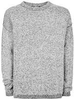 Topman LTD Grey and Black Twist Oversized Sweater