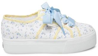 Superga x LoveShackFancy Floral Platform Sneakers
