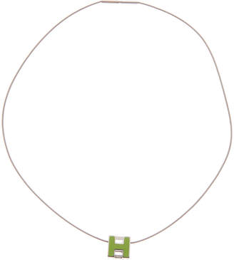 Hermes Palladium-Plated Cage D'h Necklace