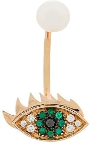 Delfina Delettrez 18kt champagne gold Eyes on Me piercing earring