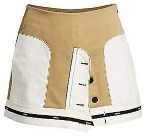 Monse Women's Inverted Twill Mini Skirt