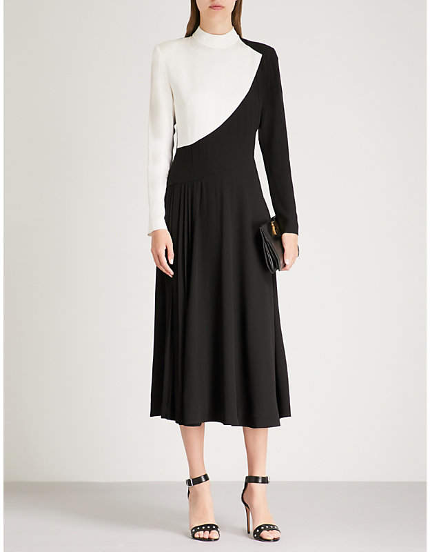 Givenchy Contrast crepe midi dress