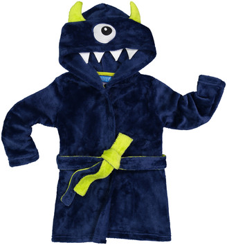 Only Boys Boys' Sleep Robes BLUE - Navy Monsters Club Robe - Toddler