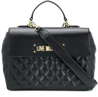Love Moschino quilted box tote