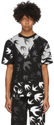 McQ Black and Grey Swallows T-Shirt