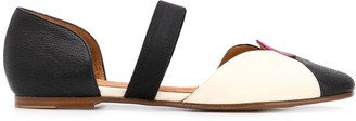 Chie Mihara Vachel geometric-panel flat pumps