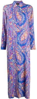 Etro Paisley-Print Shirt Dress