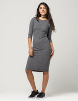 Full Tilt Ribbed Midi Dress