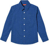 Joe Fresh Kid Boys' Plaid Button Down Shirt, Bright Blue (Size S)