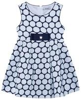 Mayoral Navy Jacquard Dot Dress