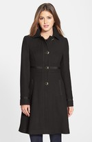 Ivanka Trump Club Collar Wool Blend Coat