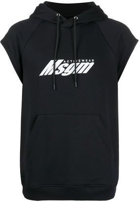 MSGM Short-Sleeved Hooded Sweatshirt