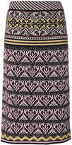 M Missoni knitted straight midi skirt