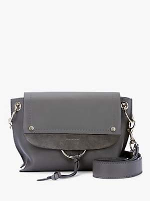 Mint Velvet Marnie Leather Shoulder Bag, Grey