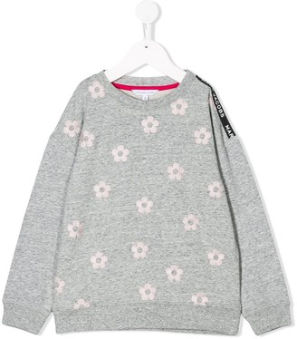 Little Marc Jacobs Crew Neck Floral Patterned Sweatshirt