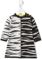 Kenzo zebra print sweater dress
