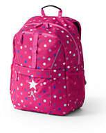 Lands' End ClassMate Medium Backpack - Print-Knockout Pink Neon